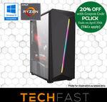 Ryzen 5 2600 8GB RAM RX 580 8GB 120GB SSD  $639.20 Delivered @ TechFast eBay