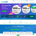 First Month Sim Offer: 75GB Data $25   36GB Data $10   50GB Data $15 @ Lycamobile (New Customers)