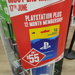 12 Month PS Plus Subscription $55 @ EB Games