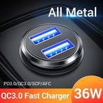 FIVI 36W Dual QC 3.0 Car Charger $3.98 US ($5.73 AU) Delivered @ FIVI 3C Specialty AliExpress
