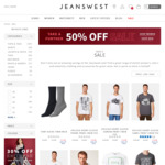 Men's T-Shirts From $4.99 (C&C) @ Jeanswest