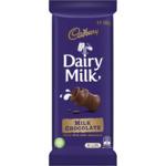 Cadbury Dairy Milk Block Varieties 162-190g $3 @ Woolworths
