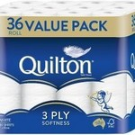 Quilton Toilet Tissue Pk 36 $14 @ Woolworths