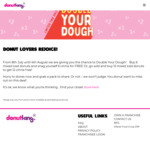 6 Free Cinnamon Donuts with  6 Mixed Iced Donuts Purchase @ Donut King