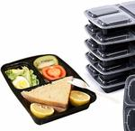 3 Compartments Meal Prep Containers (Pack of 10) $17.99 + Delivery ($0 with Prime/ $39 Spend) @ Direct from Factory Amazon AU