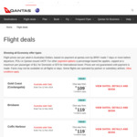 Qantas Australia Wide Sale: Eg SYD to GC $109, MEL $129, Hobart $139, MEL to Adl $119, SYD $129, Bris $149 and More