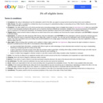 3% off Eligible Items (Min Spend $50, Max Discount $1000) @ eBay