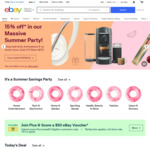 $5 off Eligible Items (Min Spend $75, up to 2 Transactions) on eBay App
