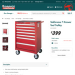 Sidchrome 7 Drawer Tool Trolley $399 (Was $568) - Bunnings