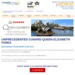 $587pp & up -- New Cunard QE Sailings from Australia until May 2020 with @ Cruise1st