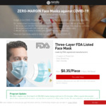 Three-Layer FDA Listed Face Mask (200 Pack) $191 Delivered from Nonda