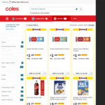 Coles 1/2 Price: 1.25L Coca-Cola $1.57, 1.8l/kg OMO Ultimate Liquid/Powder $11, Cadbury Chocolate 180g $2.50 + More @ Coles