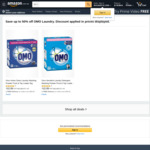 Omo Washing Powders Front and Top Loader 2kg $9.89 S/S or $10.99 + Delivery ($0 with Prime/ $39 Spend) @ Amazon