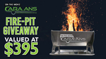 Win an 'On The Move Caravans' Fire-Pit valued at $395 from Parable Productions