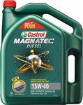 Castrol Magnatec Diesel Engine Oil 15W-40 10 Litre $54.99 @ Supercheap Auto