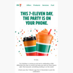 Free Regular Coffee or Large Slurpee @ 7-Eleven with My 7-Eleven App