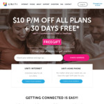 1 Month Free + $10 Discount for 11 Months with 12 & 24 Months Contract Plans @ Uniti