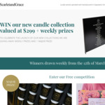 Win a Candle Collection Valued at $299 + Weekly Prizes from Scarlet and Grace