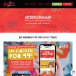 [WA, VIC] ¼ Chicken $0.99 (Normally $6.90) @ Capricho (New App Users)