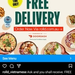 Free Delivery (No Minimum Spend) @ Roll'd