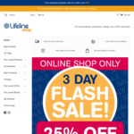 25% off Everything Online + Delivery (Free with $50 Order) @ Lifeline Queensland