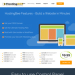 Secure Ultimate Hosting with Free 1-Year Domain Name and 50% Discount: $59.94/Year (Was $119.88/Year) @ Hosting Bee