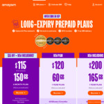 amaysim Long Expiry Plan   12 Months   60GB for $120   Unlimited National Talk & Text