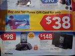 $50 iTunes Gift Card for $38 @ HN - in Store Only