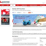Earn Ten Bonus Points for Every Dollar Spent on Qantas Gift Vouchers