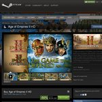 Save 50% on AOEII HD on Steam USD $9.99 or 4-Pack USD $29.99