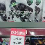 Splinter Cell - Black List PS3. $60 Big W