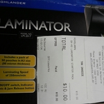 HighLander LM-2017 A3 Laminator with 50 Free Pouches $10 @ Officeworks