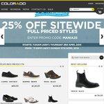 Colorado Shoes 25% off Full Priced (ClickMania)