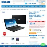 "Asus - X551MAV Notebook - 15.6"" with Bonus Printer and Antivirus $319 @ Bing Lee"