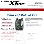 Hyundai XTeer Oil -20% Off Diesel Ultra 5w30 6L $62.40, TOP 5w40 4L $40 [Pickup-SA]@Oilman Group