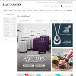 Save 40% off The RRP off Samsonite and Delsey Luggage @ David Jones (1 Day, Online Only)