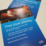 [SYD] Free Shoe Shining and Coffee at Hunter Street Citibank