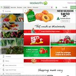 Woolworths Online Promotion - $10 off $100 Minimum Spend (Coupon from Cashrewards)