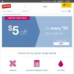$5 off Every $50, Microsoft Surface Pro 3 i3 4GB 64GB $724.99 @ Staples