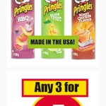 USA Made Pringles 150gm 3 for $5 @ NQR [VIC] Best before Apr 17