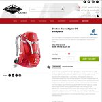 Deuter Trans Alpine 30 @ $103.96 Shipped (RRP $250) from Mountain Designs Outlet