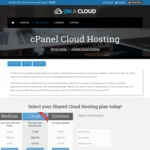 50% off All Shared Cloud Hosting @ OnACloud.com.au - Small - 5GB Disk, 500GB Bandwidth for $2.47 Per Month