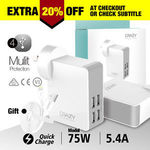 4 Ports USB Phone Wall Charger for iOS and Android Devices $17.56 Delivered @ Crazy Technology eBay