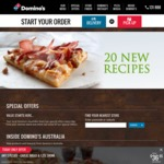 3 Traditional Pizzas Delivered $28.95 or $24.95 Pickup @ Domino's Bondi Junction NSW