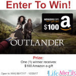 Win $100 Amazon Gift Card in the Outlander Season 3 Fans Giveaway from Life After 25