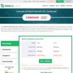 Comodo EV Multi Domain SSL - USD $337.50 (~AUD $432) for 2 Years @ Click SSL