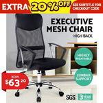 Executive High Back Mesh Computer Desk Office Chair Pu Leather Tilt Black 63 29 Delivered Oz Plaza Ebay Ozbargain