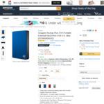 Seagate Backup Plus 5TB Portable External Hard Drive USB 3.0, Blue (STDR5000102) US $127.07 (~ AU $162.89) Delivered @ Amazon US