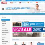 Bonus Lynx Pack When Spending > $40 at Lowes (Online Only)