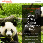 Win a 7 Day China Holiday for Two Worth $11,000 from MyDiscoveries